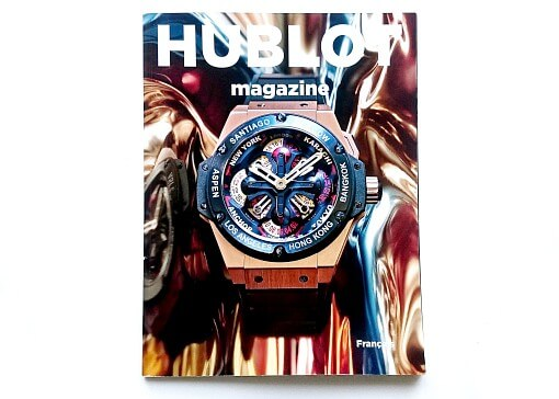 couverture magazine Hublot montre