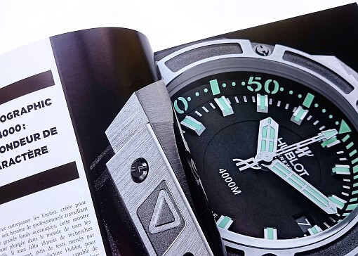 magazine Hublot montre chronographe