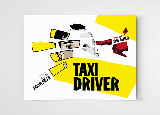 affiche illustration film Taxi Driver de Martin Scorsese