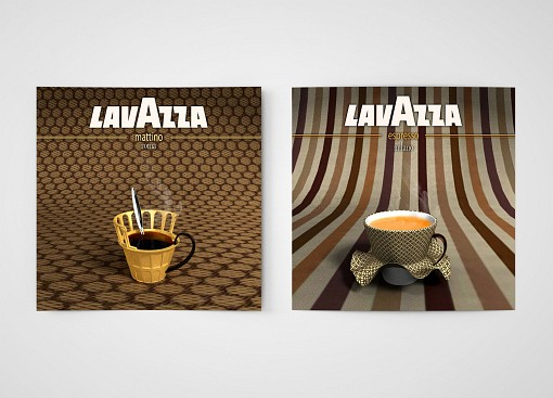 affiche illustration café Lavazza Bel Canto