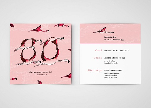 carte invitation anniversaire