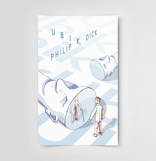 affiche illustration livre Ubik de Philip K. Dick